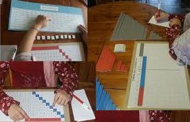 Montessori material for substraction