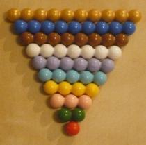 The Montessori pearl-scale