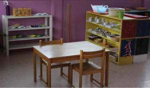 Montessori Shelves with exercise platters
