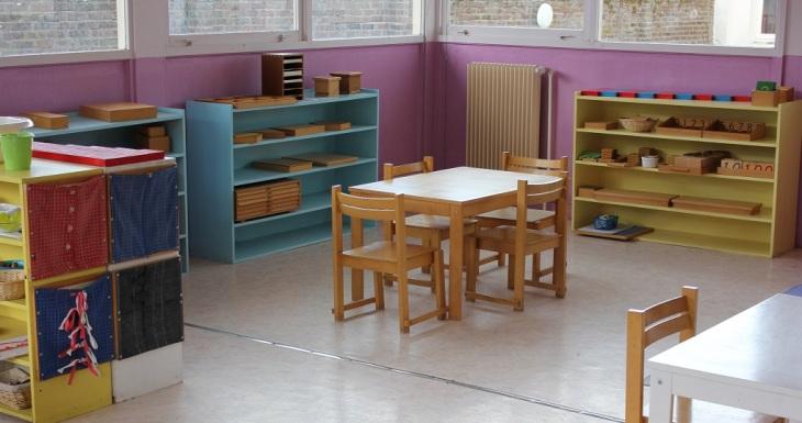 Une classe de maternelle de l'Ecole Athéna.
