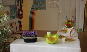 Un joli buffet attendait nos visiteurs.