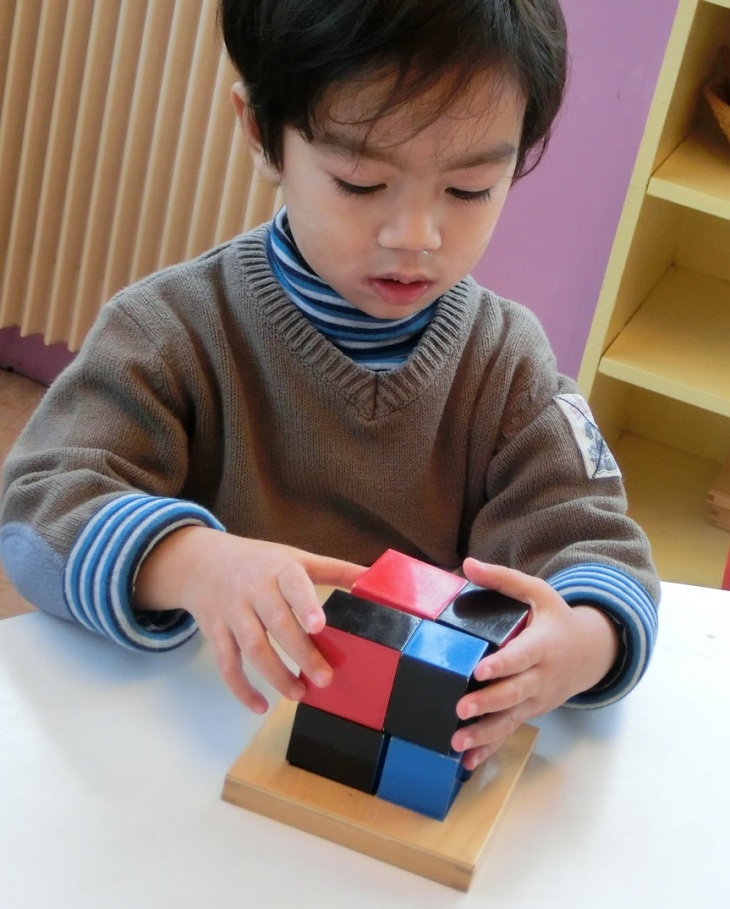 L'algèbre sensoriel : le cube du binôme.