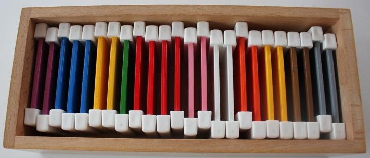 La deuxième boîte de couleurs.