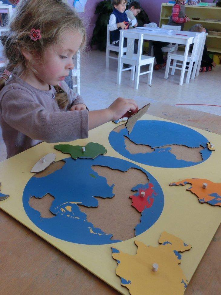 La carte puzzle du monde
