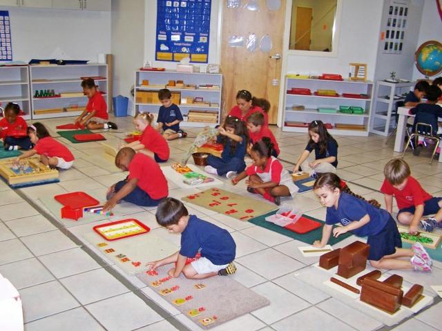 Une classe Montessori.