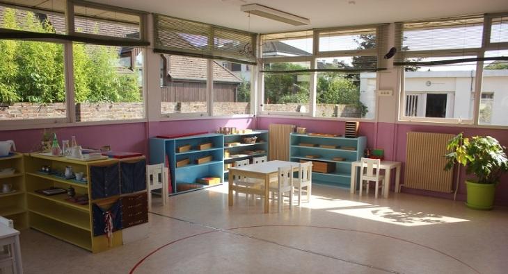 La classe de maternelle française.