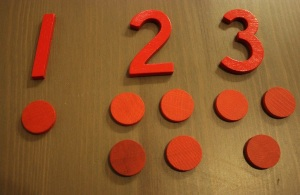 Montessori numbers and counters