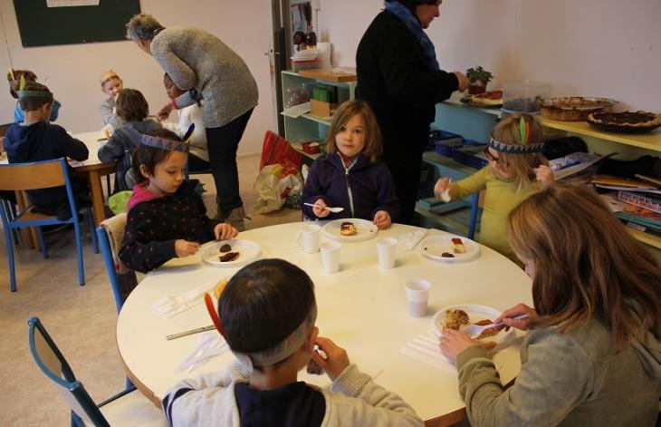 Montessori Athéna - repas Thanksgiving
