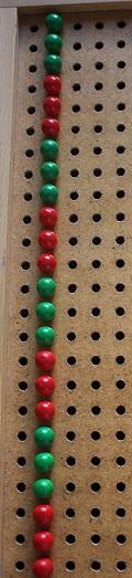 Montessori planche à trous