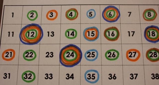 Montessori prime numbers