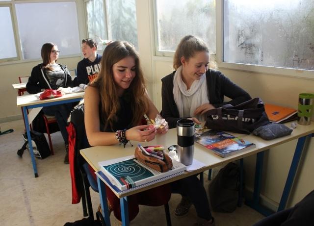 Montessori élèves de lycée.