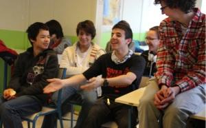 Des lycéens heureux !