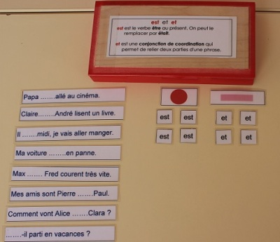 Montessori orthographe