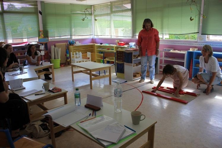 Montessori barres rouges