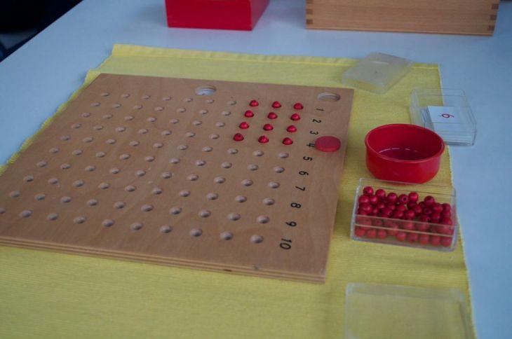 Montessori Tables de multiplications.