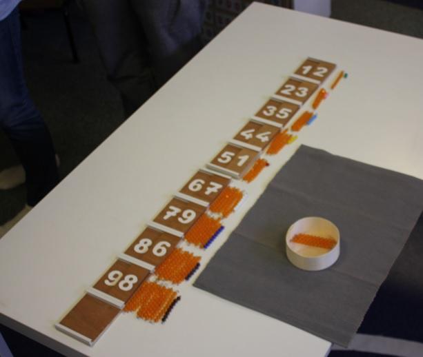 Montessori table de Seguin