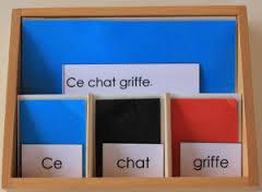 Montessori grammaire
