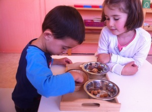Montessori tris sensoriels.