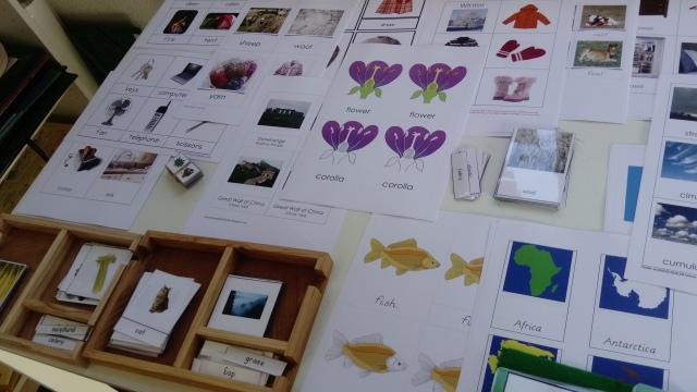 Montessori vocabulaire